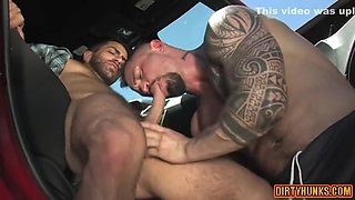 Muscle Homosexual Arse Dril With Facial Cum