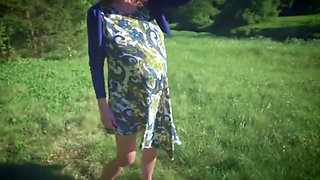 Outdoor Fuck And Dick Suck With Pregnant Young Girl, POV Video
