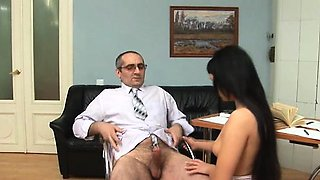 Teacher forcing himself on awesome chick