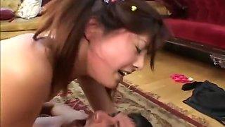Naughty Asian Taking Gigantic Dick