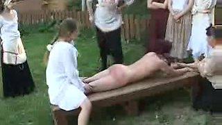 Punished cutie - birching