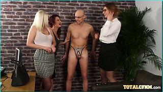 Office chicks get naughty