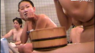 Sweet Asian bimbos washing each others body in the shower 03189