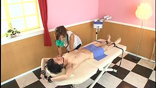 Geeky Boy Tricked By the Massage Beauty