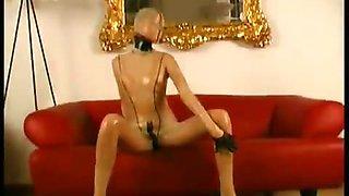 Arousing boytoy loves rubber