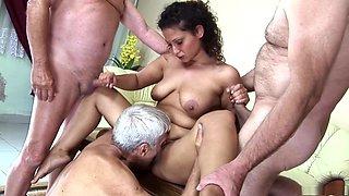 Incredible pornstar in horny mature, gangbang xxx video