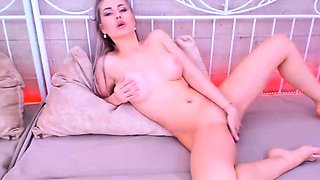 Busty milf loves anal toying with rubber dildos