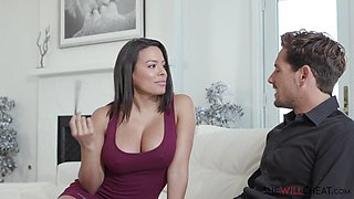 Gorgeous wife cheating on her husband