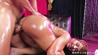 Mercedes Carrera is a babe covered in oil ready for a fuck