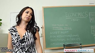 Busty professor has a body that screams sex and she wants a hard cock