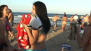 These whores love beach parties and they love doing naughty things on camera