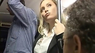 Horny Milf Touched To Multiple Orgasm On Bus Part1