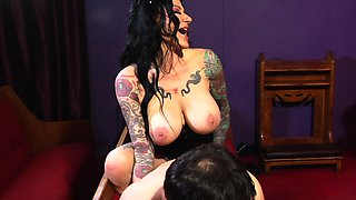 Witchy Jen Jexxxx pegs Alter Boy Marvelo with a giant BBC