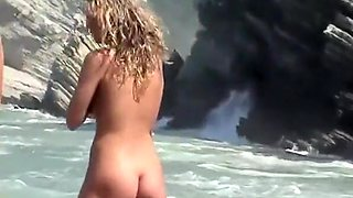 Nudist women secretly filmed at beach