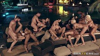 Aaliyah Hadid & Alexis Fawx & Ashley Adams & Bridgette B & Gina Valentina & Karma Rx & Katrina Jade & Kira Noir & Kissa Sins & Lela Star in Brazzers House 3: Episode 4 - BRAZZERS