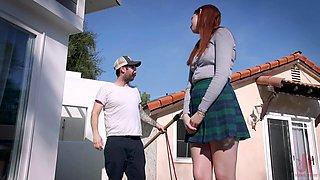 Cunning teen seduces her neighbor into having some kinky sex