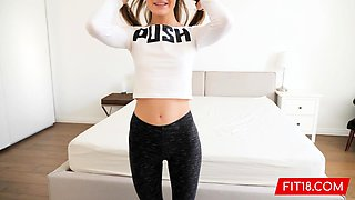 Skinny and Toned Hungarian Chick Gets Creampie