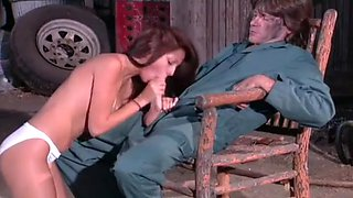 A Coed Trades Some Pussy For Car Repairs