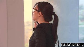 BLACKED Valentina Nappi takes biggest bbc in the world