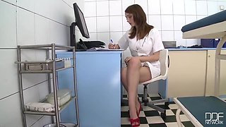 Lucie Wilde And Busty Buffy - Big-bosomed Nurse Lucie Wild In Corset Banged Deep & Hard