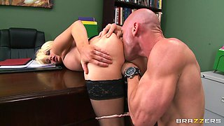 Boss fucked his blonde secretary Alexis Ford with his fat dick