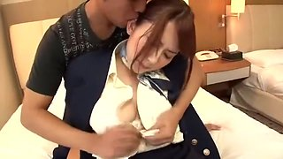 Crazy Japanese whore Yui Hatano in Incredible Car, Stockings/Pansuto JAV scene