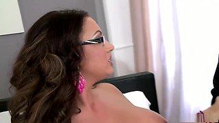 Hottest pornstar Emma Butt in best lingerie, big tits sex movie