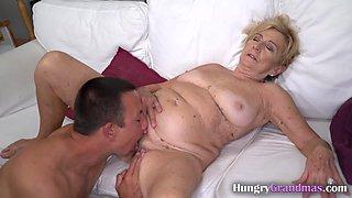 Fucking a horny granny hard