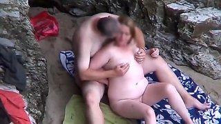 Bbw beach 3some