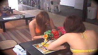 Jap hottie sucks and fucks in hidden cam massage clip