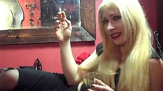 Mistress LM - Smokes And makes You Beg For One Of Her Exhales