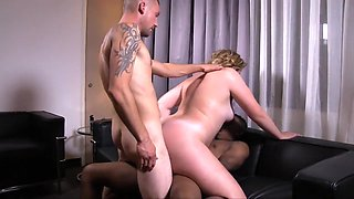 Amazing amateur Stockings, BBW sex video