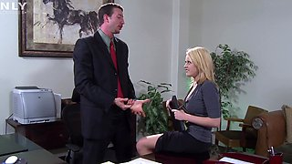 Hardcore fucking in the office with a busty blonde secretary