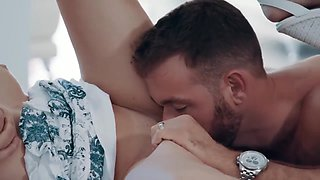 18 Years Old, Adria Rae And Aspen Rae In Gets Copulated In Romantic Way