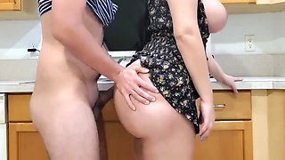 Big Ass Stepmon Fucking With Her Stepson In Kitchen