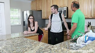 Horny stepson can't resist fucking super juggy stepmom Michele James