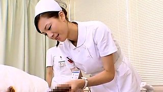 Insatiable Japanese nurses taking advantage of meat sticks