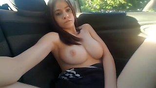 Big wet Orgasm in her car.