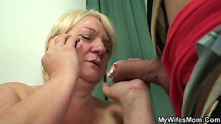 Huge boobs old blonde mother in law taboo sex