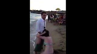 blowjob at beach party