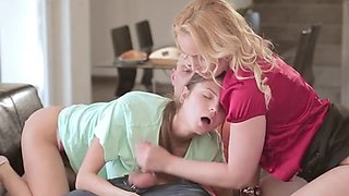 MILF Kathia Teaches Daughter How To Fuck And Suck Stepdad