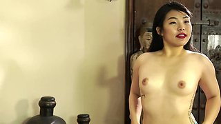 A beautiful Asian doll will do anything for her white lover