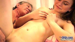 Old Young Grandpa Fucks Teen Babysitter Fingers Virgin