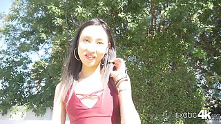 Naughty Asian girl with small tits Eva Yi is poked missionary well