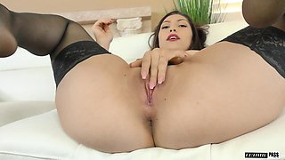Judy Jolie is a slut in sexy stockings who wants to feel a dong