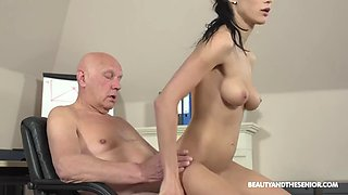 Old man with hot Czech