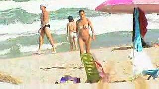 Nude beach teen sunbathing