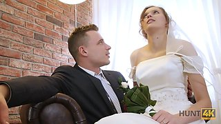 HUNT4K. Married couple decides to sell brides pussy for good price
