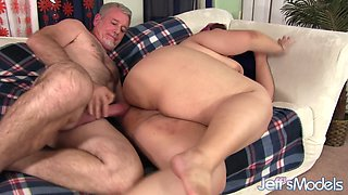 Young Plumper Slut Mariah Mercy Gets Pummeled by an Old Guy